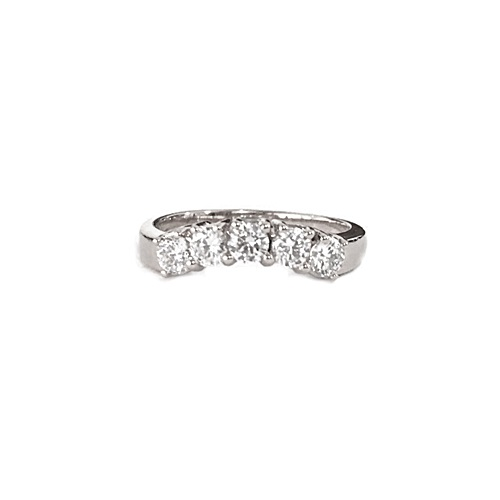 Classic 5-stone Eternity Ring - Gold
