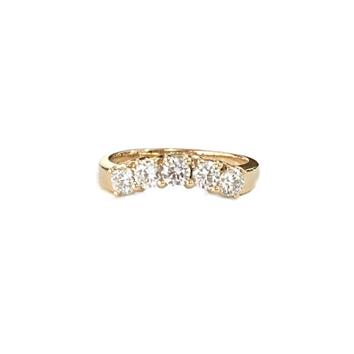 5-STONE-U-SHAPED-ETERNITY-RING