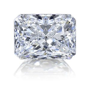 Radiant cut diamond simulant loose stone from Sally's Desert Diamonds