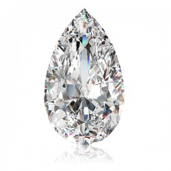 Pear cut/ teardrop diamond simulant loose stone