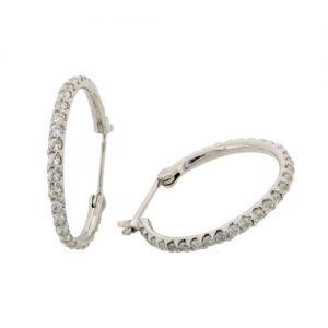 diamond simulant hoop earrings