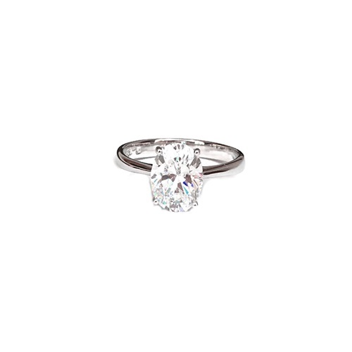 Classic Oval Cut Solitaire ring is designed with stunning simplicity in mind.    With perfect proportions and a refined setting that lifts the diamond up to the light. Timelessly elegant, this ring has been meticulously designed and crafted with a four-prong-set oval-shaped solitaire.