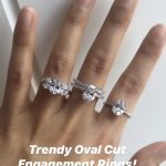 Trendy Oval Cut Engagement Ring